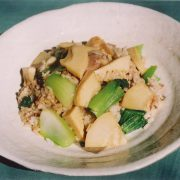 タケノコの中華風混ぜご飯